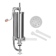 5 LBS home sausage meat stuffer stainless steel manual vertical sausage filling machine kitchen meat tool sausage maker