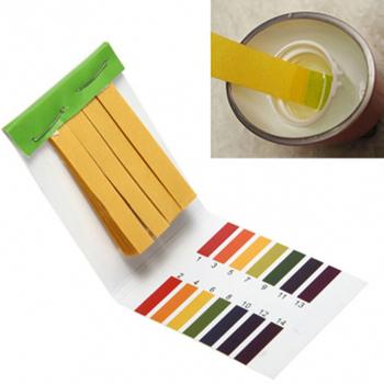 80 pasków 1-14 PH tester obecności kwasów zasad papieru wody zestaw lakmusów tester jakości wody z 1PC RHS wykres koloru #137 tanie i dobre opinie