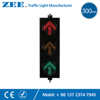 12 Inches 300mm Arrow LED Traffic Light Red Amber Green Arrrow LED Signals Left Right Straight