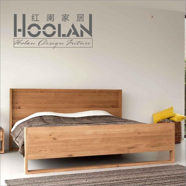 Ikea Modern Minimalist Nordic Oak Ash Solid Wood Bed Anese Style Tatami Room Bedside