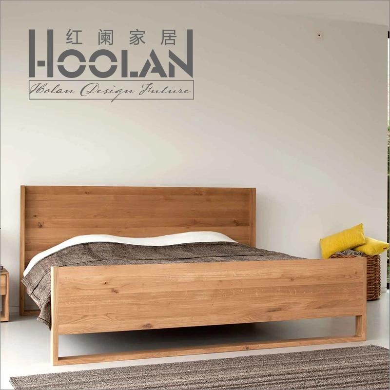 Ikea Modern Minimalist Nordic Oak Ash Solid Wood Bed Japanese Style Tatami Room Bedside Cabinet Model Side Rufflebed Aliexpress
