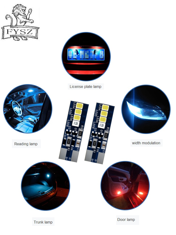 2Pcs New T10 W5W WY5W 501 2825 168 High Quality Super Bright LED Car Reading Dome Lights Auto Marker Lamps Wedge Tail Side Bulbs-in Signal Lamp from Automobiles & Motorcycles