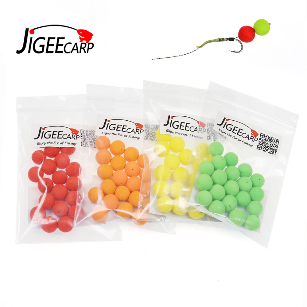 JIGEECARP 20pcs Carp Fishing Round Pop Ups Boilies Baits Corn Apple Strawberry Sweet Potato Flavor Carping Bait 8mm 10mm 12mm