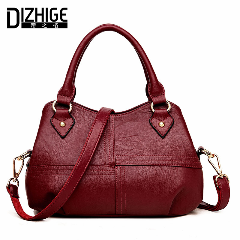 DIZHIGE Brand Luxury Women Leather Handbags Designer Ladies Hand Bags Women High Quality Shoulder Bags Tote 2018 New Sac Femme dizhige brand lock women messenger bags flap crossbody bags women high quality pu leather shoulder bag ladies new sac femme 2017