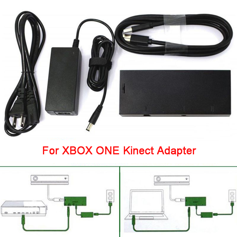 EU Plug Adapter For XBOX Kinect 2.0 Sensor For Microsoft Xbox One S,X & Windows 8 10 PC USB3.0 US Plug AC Adapters