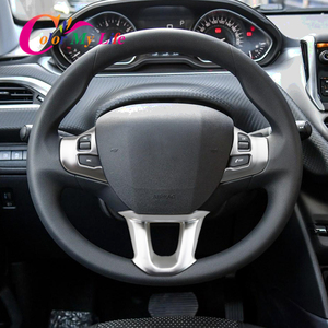 3 шт./компл. украшение рулевого колеса автомобиля накладка наклейка подходит для Peugeot 2008 208 308 2014 2015 2016 2017 2018 2019