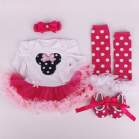 Newborn Baby Girl Christmas Dress Xmas Outfits Baby Baptism Dresses Birthday Kids Dress Cute Tutu Long