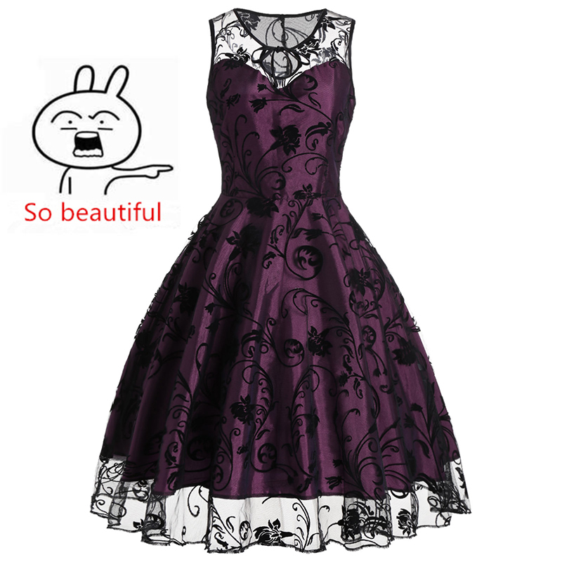 Elegant Vintage Wedding Bridesmaids High Quality Dress Round Neck Femme Party Lace Summer Clubwear Woman Clothes Robe