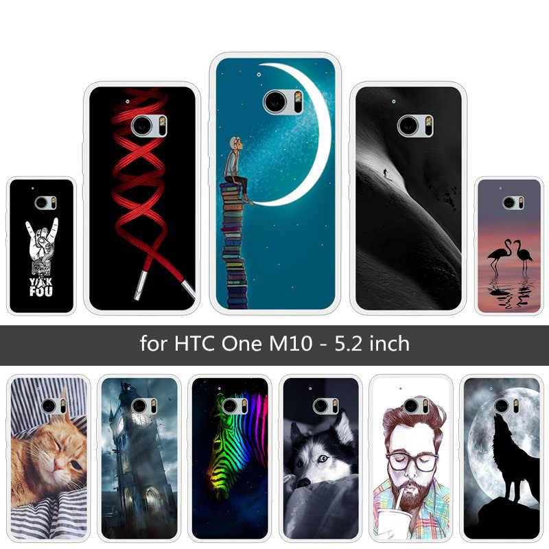 สำหรับ One M10 Fundas ซิลิโคนนุ่มโปร่งใส TPU สำหรับ HTC 10 END WOLF โทรศัพท์กรณี 5.2 นิ้วสำหรับ HTC One M10 Coque Capa