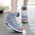 Spring Summer Open Toe Shoes Sexy Lady Pumps High Heel Girl Wedge Sandals Platform Lady Fashion Shoes Jeans Designer Wedges