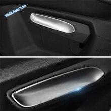 цена на Lapetus Car Seat Adjustment Handle Sequins Strip Cover Trim Fit For Volkswagen Golf 7 2014 - 2018 ABS Pearl Chrome Accessories