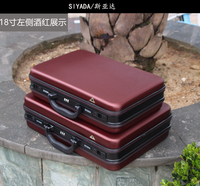 ABS Aluminium frame tool case toolbox Business advisory suitcase Man portable suitcase briefcase two colors