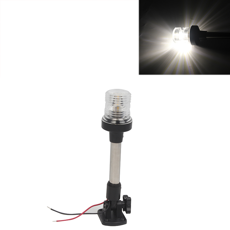 12V Marine Boat Yacht White Anchor Light Adjustable 360 Degree All Round Navigation Lamp 248mm/403mm-in Marine Hardware from Automobiles & Motorcycles