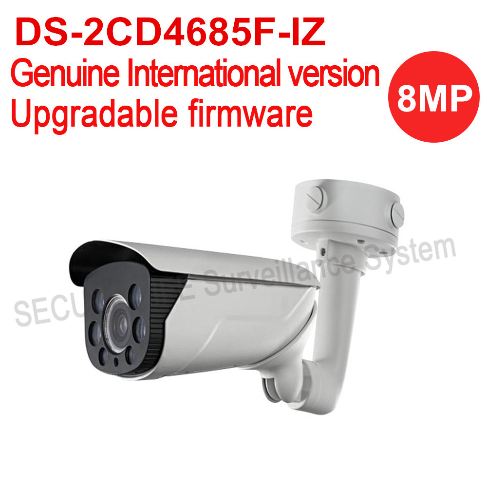 English version DS-2CD4685F-IZ 4K Smart Bullet Camera, POE ip camera moterized lens with smart focus 70m IR hikvision ds 2de7230iw ae english version 2mp 1080p ip camera ptz camera 4 3mm 129mm 30x zoom support ezviz ip66 outdoor poe