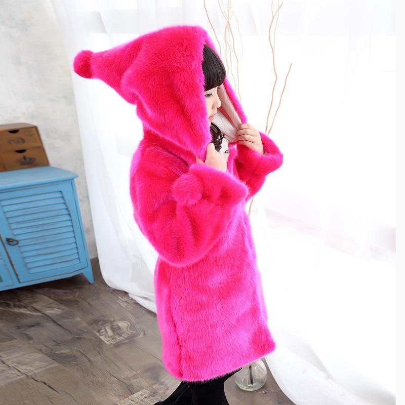 0ac0c9713 2018 Girls Winter Coat Girls Wool Jacket Girls Faux Fux lnng Coat ...