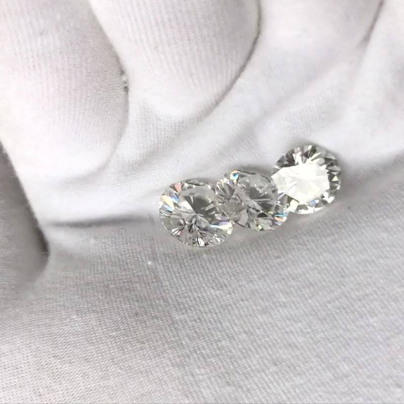 Transgems 1 pieza brillante 7,0mm F incoloro corazones y flechas corte redondo anillo piedra suelta perlas para joyería haciendo - 3