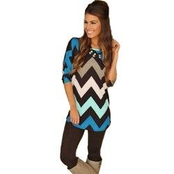 New arrival spring autumn long sleeve bohemian women casual striped t font b shirt b font.jpg 250x250