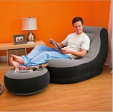 Inflatable sofa combination adult leisure chair seat luxury flocking Send electric pump