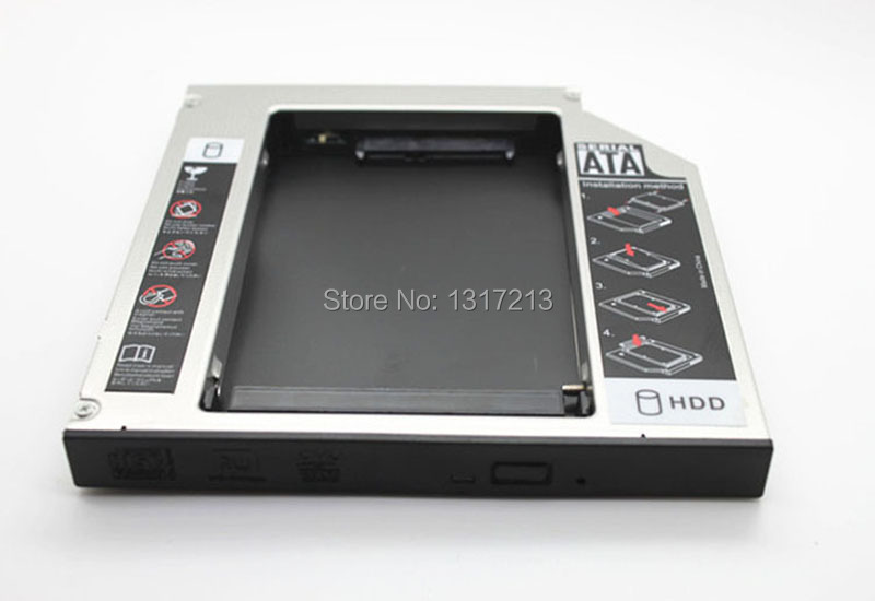 NEW SATA 2nd HDD SSD HD Hard Disk Drive Caddy Adapter Bay for HP Docking Station 12.7MM