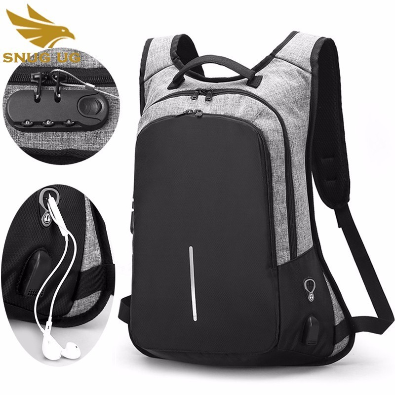 New Men Usb Charging Waterproof Travel Mochila Teenagers Anti-theft 15.6 Inch Laptop Backpack Bag For Male College Student
