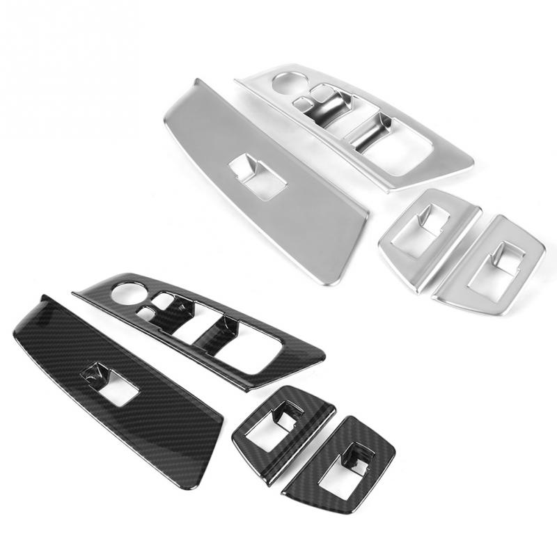 4pcs Car Window Switch Lift Button Frame Cover Trim for BMW 5 series G30 2017 2018 Interior Accessories Car styling