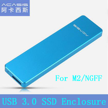 High Quality Acasis FA-2423 Hard Disk Drive Box M2 / NGFF to USB3.0 M.2 SSD Enclosure Case External HDD Box for 2242/2260/2280