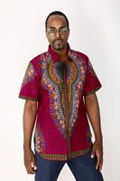 Men African Wax cloth Dashiki T shirts Mens Classic Bazin Riche Dashiki Tops Traditional African Shirt 123105
