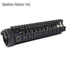 Picatinny rail 9.0 inch black Handguard Rail System for AEG M4 / M16