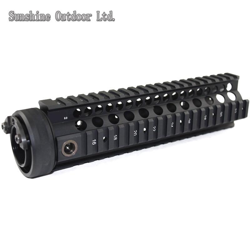Picatinny rail 9.0 inch black Handguard Rail System for AEG M4 / M16 12 durable mil spec style matte finish lightweight aluminium handguard picatinny quad hunting shooting rail for aeg m4 m16 ar15