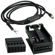 3,5 мм 12PIN AUX вспомогательный провод черный Аудио Женский музыкальный кабель для BMW E60 E63 5 6 серии
