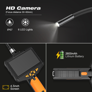 """Image 2 - 4.3"""" LCD Digital HD Snake Camera 7.6MM Drain Pipe Inspection Endoscope Borescope Wire Probe Waterproof Camera 1M/3M/5M Cable"""