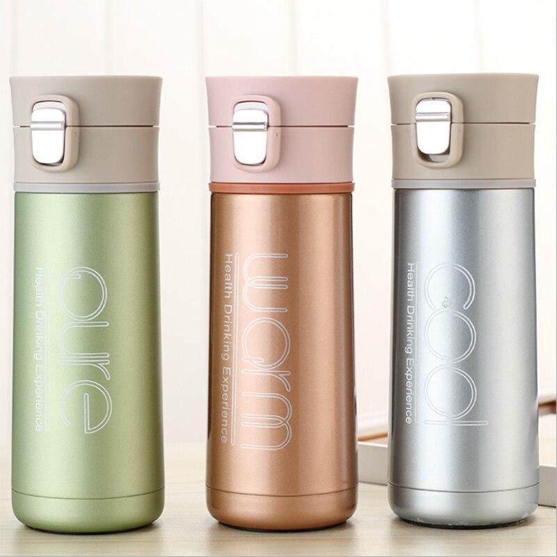 echome 500/ml 350/ml termo de doble pared de acero inoxidable vac/ío bebidas de caf/é para matraces botella con vaso