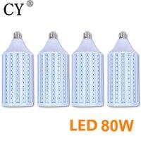 New 4pcs E27 220v Photo Studio Bulb 80W 5730 SMD LED Video Light Corn Lamp Bulb & Tubes Photographic Lighting