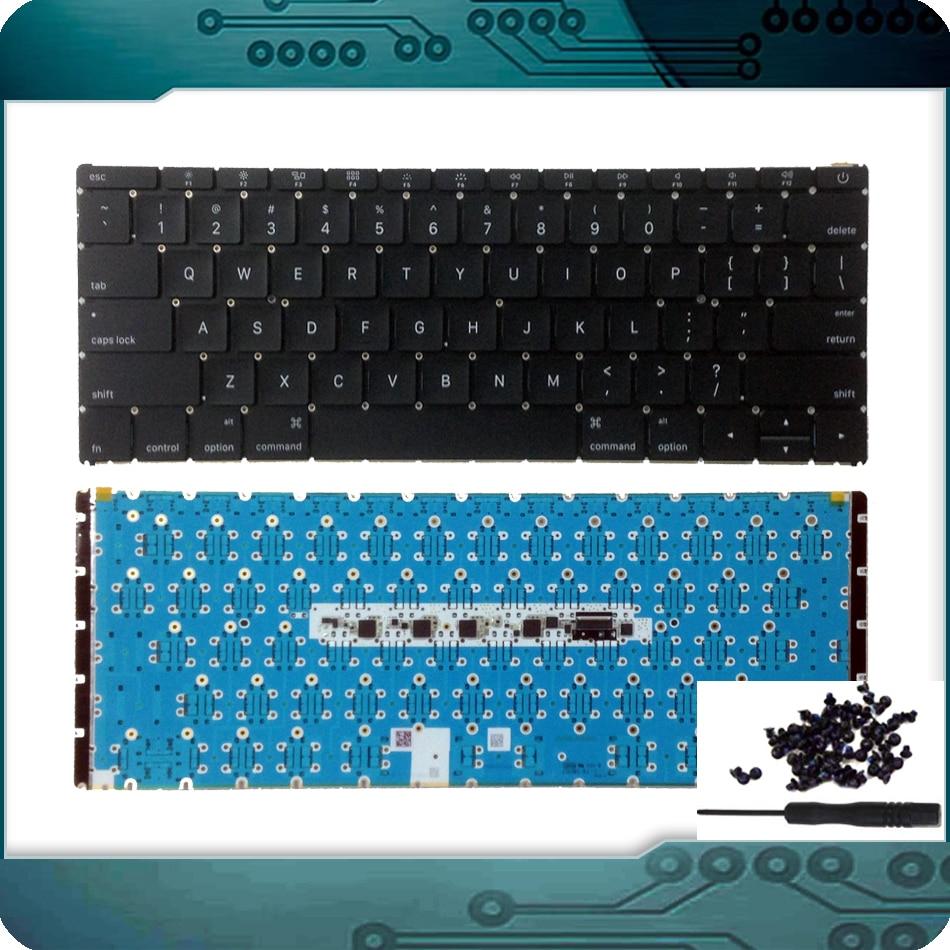 2015 Used A1534 US USA English Keyboard +Backlit Backlight for Apple MacBook 12 Retina A1534 Keyboard 2015 MF855 MF865 EMC2746