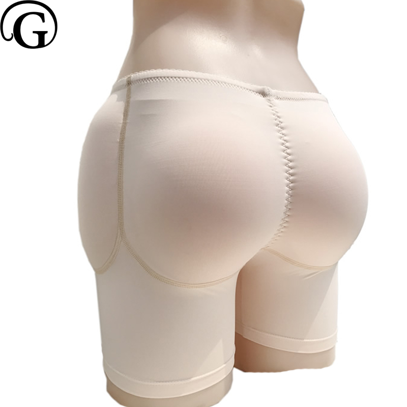 PRAYGER Donne 4 Sillicon Inserti Boxer elasticizzati Bum Enhancer Natica Hip lifter Shaper Rilievi Smontabili Biancheria Intima
