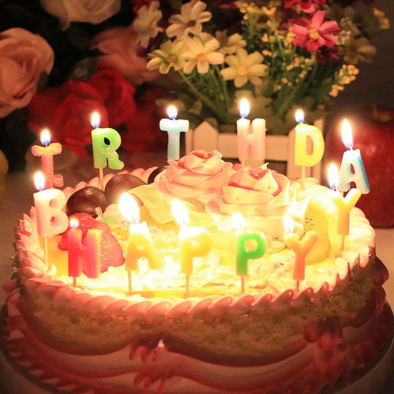 birthday candle romantic birthday cake candle digital letter candle ...
