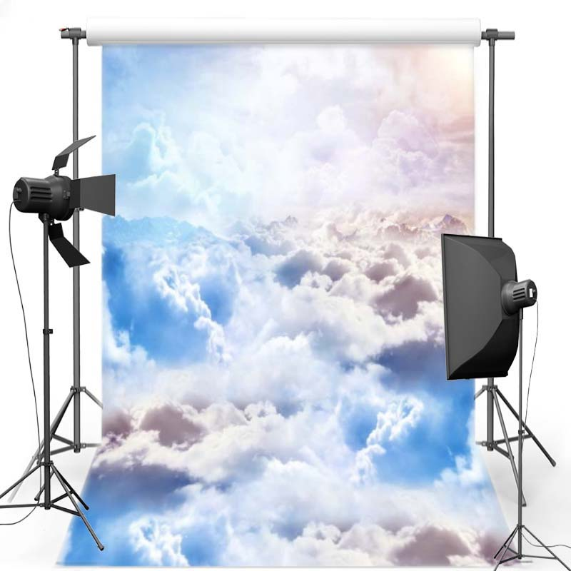Colorful Cloud Vinyl Photography Background For Wedding New Fabric Polyester Backdrop For Children photo studio S1230 200 300cm 6 5 10ft studio backdrop for alentine s day vinyl custom photography letter combinations romantic colorful for youth