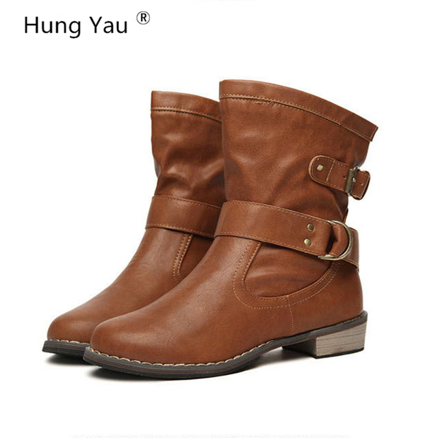 Women Ankle Martin Boots 2018 Autumn Female Casual Shoes