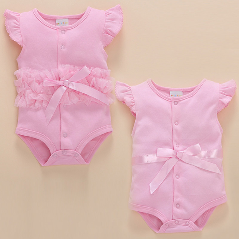 2018 Direct Selling Twins Bodysuit The New Born Baby Clothes Moon 0-3 Summer Months 6new Dress 12 Three Girl Princess