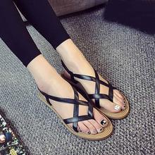 Summer 2017 Hot Fashion New Women Sandals Women Flat Shoes Bandage Bohemia Leisure Lady Sandals Peep-Toe Outdoor Shoes#DXESS