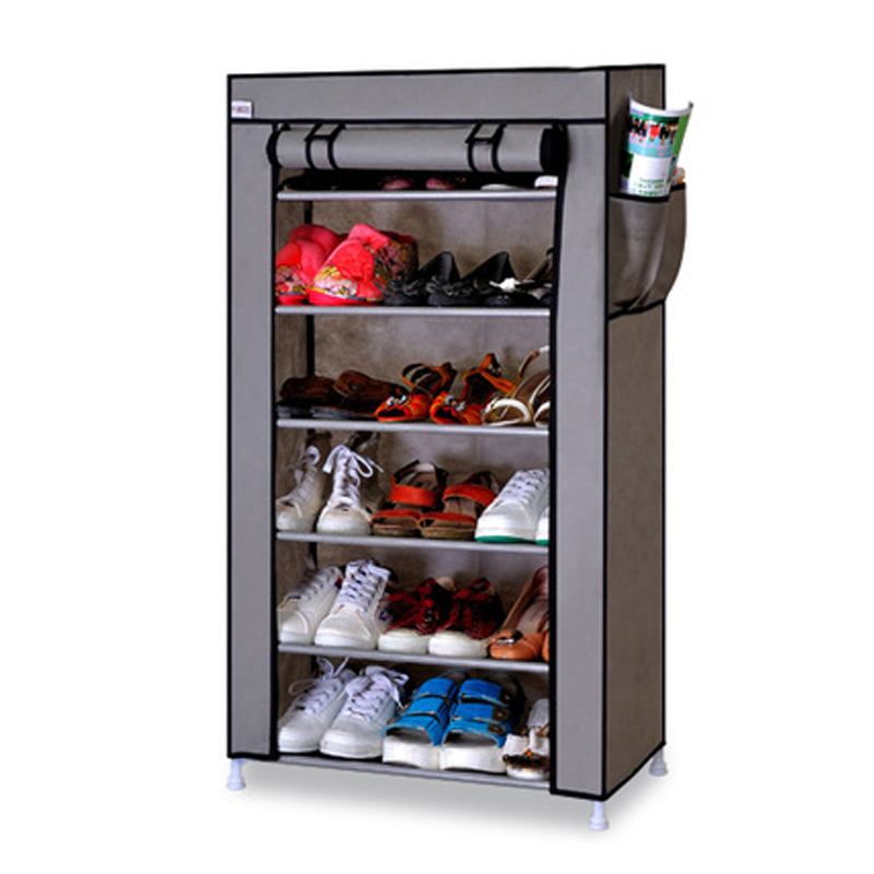 Image 2 - Thick Non woven Cloth Multi layers Shoe Rack Dustproof Waterproof Creative Shoes Cabinet  Shoes Storage Rack DIY Shoes Organizer-in Shoe Cabinets from Furniture