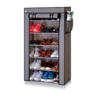 Image 2 - Thick Non woven Cloth Multi layers Shoe Rack Dustproof Waterproof Creative Shoes Cabinet  Shoes Storage Rack DIY Shoes Organizer