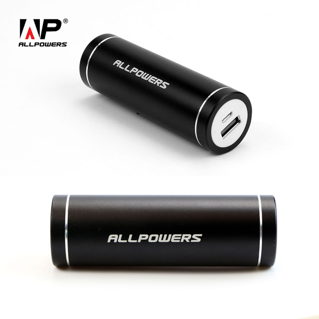 ALLPOWERS Black Portable Exteranl Battery Pack 5400mah Power Bank Mini Phone Battery Chargers for iPhone Samsung HTC Huawei.