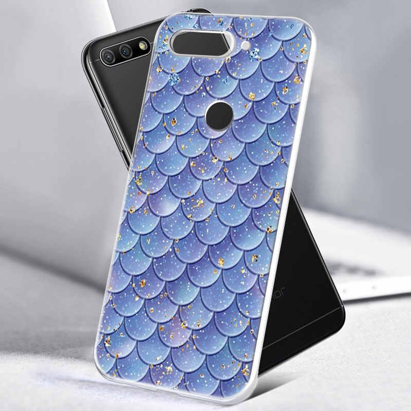 ホットカラフルな魚スケールソフトシリコーン電話ケース Huawei 社の名誉 20 20i 10 9 8 Lite 8X 8C 8A 8 S 7 S 7A プロビュー 20 ファッションカバー