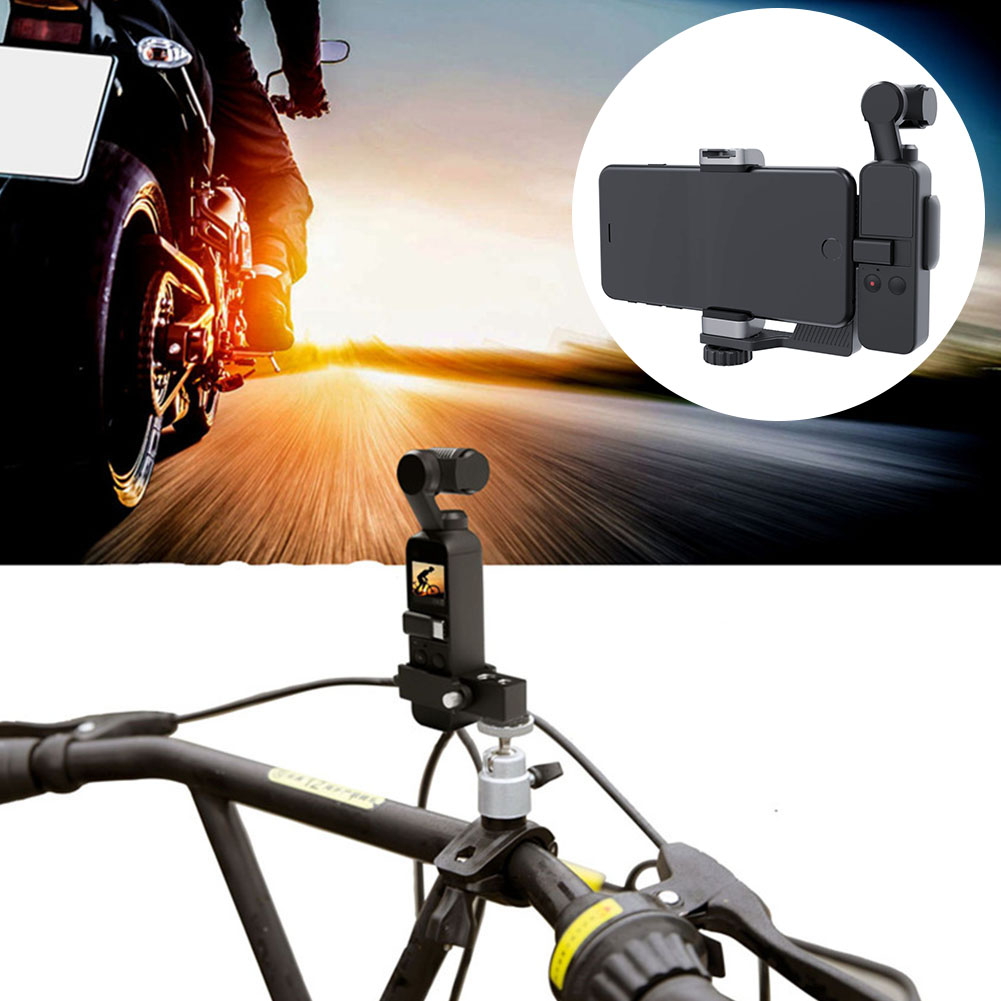 Handheld Camera Holder Bracket for PGYTECH DJI OSMO Pocket Accessories Bicycle Phone Holder Gimbal Stand for iPhone 8 X SamsungHandheld Camera Holder Bracket for PGYTECH DJI OSMO Pocket Accessories Bicycle Phone Holder Gimbal Stand for iPhone 8 X Samsung
