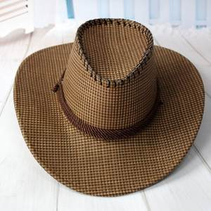 WJ Summer For Men General Large Shape Cowboy Hat Straw f7319efe024c