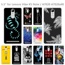 Case for Lenovo K5 Note Luxury Protective Back Cover for Lenovo Vibe K5 Note A7020 a7020 5.5 inch Capa Funda Brick Road Couqe(China)