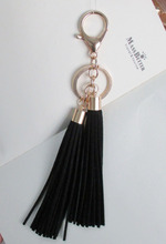 Women 2 Piece  Suede Tassels Keychain and Bag Charm