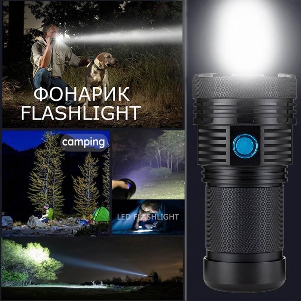 AloneFire Super lumineux XHP70 60 W plus puissant lampe de poche LED 13000lm haute puissance rechargeable lampe de poche LED lanternes camping - 6