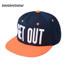 [HEAD BEE] 2017 New Baseball Cap Children Acrylic Embroidery Letter GET OUT Hip Hop Cap Gravity Falls Casquette for Girl and Boy printio look out gravity falls